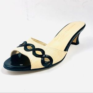 Marches Vous Open Toe Mule Sandal Size 6.5.